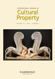 International Journal of Cultural Property