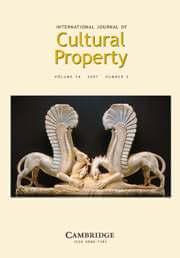 International Journal of Cultural Property